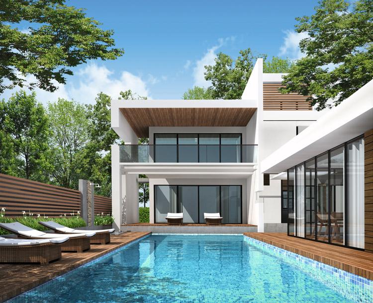 Grundstück und Haus mit Pool, Schwimmteich, Sauna, Whirlpool ...